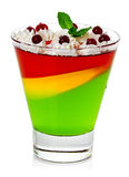 Jelly dessert Stock Photography