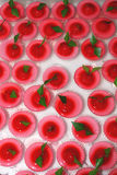 Jelly Dessert. Mini cup of red jelly dessert taken from sweet shop royalty free stock photo