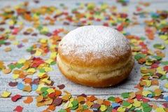 Jelly Donut and Confetti Royalty Free Stock Photo