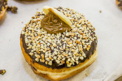 Jelly doughnut / sofgania  - Jewish holiday Hanukkah Royalty Free Stock Photo