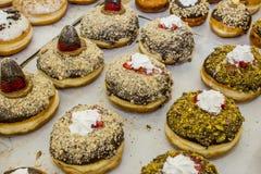 Jelly doughnut / sofgania  - Jewish holiday Hanukkah Stock Photo