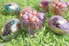 jelly fasoli Wielkanoc jaj Fotografia Stock