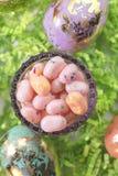 jelly fasoli Wielkanoc jaj Zdjęcie Stock