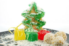 Jelly fir cookie Stock Image