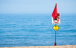 Jelly fish warning sign Royalty Free Stock Photo