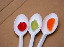 Jelly  Flavor Fruit, Candy Dessert , Bonbons Stock Image