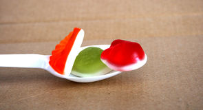 Jelly  Flavor Fruit, Candy Dessert , Bonbons Royalty Free Stock Image