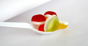 Jelly  Flavor Fruit, Candy Dessert , Bonbons Stock Photography