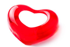 Jelly in the form of heart. On a light background royalty free stock images