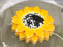 Jelly in the form of a sunflower Stock Photo