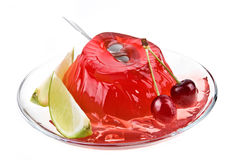 Jelly From A Sweet Cherry Lime Royalty Free Stock Image