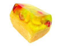 Jelly fruit cake Stock Photography