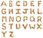 Jelly Fruit Candy Alphabet Fotografia Stock Libera da Diritti