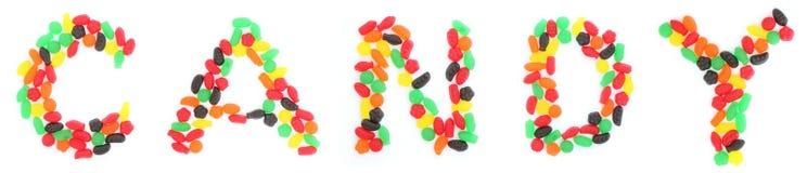 Jelly Fruit Candy-Rechtschreibung Süßigkeit Stockfotos