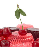 Jelly fruit with a cherry Royalty Free Stock Photo