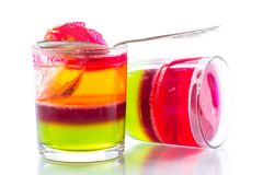 Jelly fruit colored puff Royalty Free Stock Photos