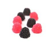 Jelly fruit like blackberry. Stock Photos