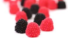 Jelly fruit like blackberry. Royalty Free Stock Photo