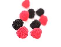 Jelly fruit like blackberry. Stock Image