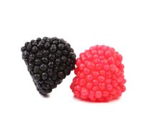 Jelly fruits in form of berries close up Royalty Free Stock Image