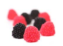 Jelly fruits in form of berries Royalty Free Stock Images
