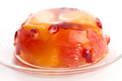 Jelly with fruits Royalty Free Stock Photos