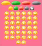 Jelly Game Button Set colorée Photo libre de droits