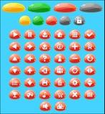 Jelly Game Button Set colorée Image libre de droits