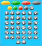 Jelly Game Button Set colorée Photographie stock