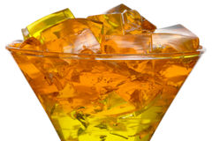 Jelly in glass Stock Images