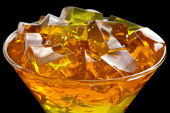 Jelly in glass Stock Photography