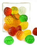 Jelly in glass bowl. Transparent jelly in glass bowl royalty free stock photo