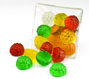 Jelly in glass bowl. Transparent jelly in glass bowl stock photo