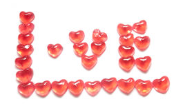 Jelly head red isolated background white Stock Photos