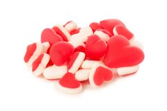 Jelly heart candies sweets stock image