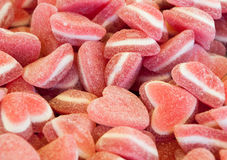 Jelly heart shape candies Stock Image