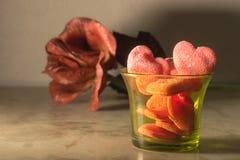 Jelly heart Stock Image