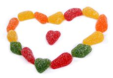 Jelly hearts Royalty Free Stock Images