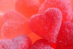 Jelly hearts Stock Photography