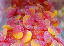 Jelly hearts sweets Stock Photography