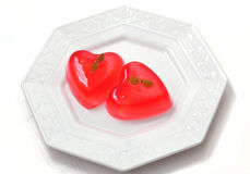 Jelly hearts for Valentines Day Stock Photos