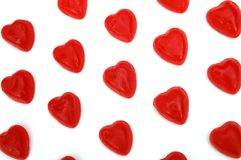 Jelly hearts on white Royalty Free Stock Images