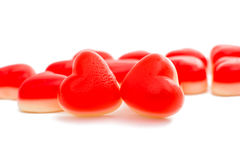 Jelly hearts Stock Images