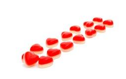 Jelly hearts Stock Photos