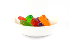 Jelly isolated on white. Different colored jellies,  jelly isolated on white Stock Photography