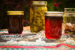 Jelly Jars And Pickle Jars foto de stock royalty free