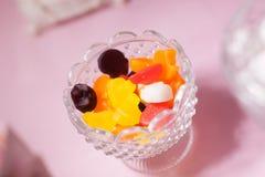 Jelly jujube dessert table decoration sweats. Dessert table decoration flowers sweats Royalty Free Stock Photos