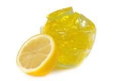 Jelly lemon dessert Royalty Free Stock Images