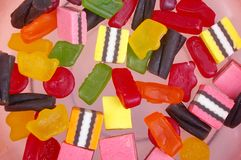 Jelly lollies licorice Royalty Free Stock Photos