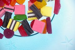 Jelly lollies licorice Stock Photo